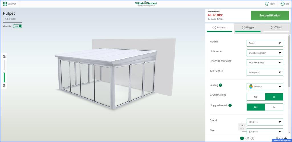 Sådan bygger du din udestue – i 3D