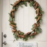 Årets julekrans til hoveddøren!